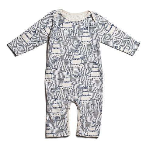 High Seas Navy - Organic Jumpsuit by Winter Water Factory,Winter Water Factory  - Wild Dill