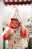 Mezoome Organic Cotton Fall Hooded Coat , Toddler Wear - Mezoome Designs, Wild Dill  - 2