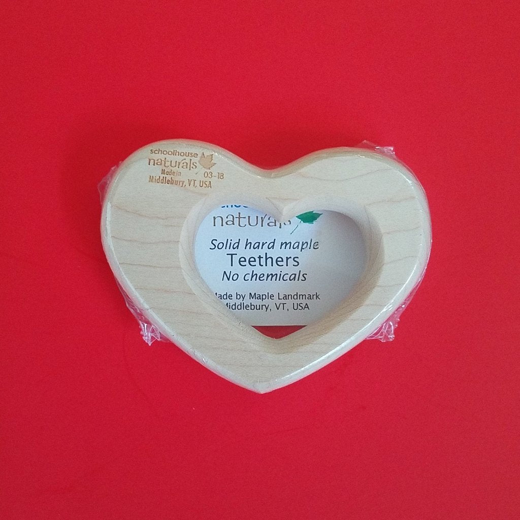 Maple Landmark Wooden Heart Teether