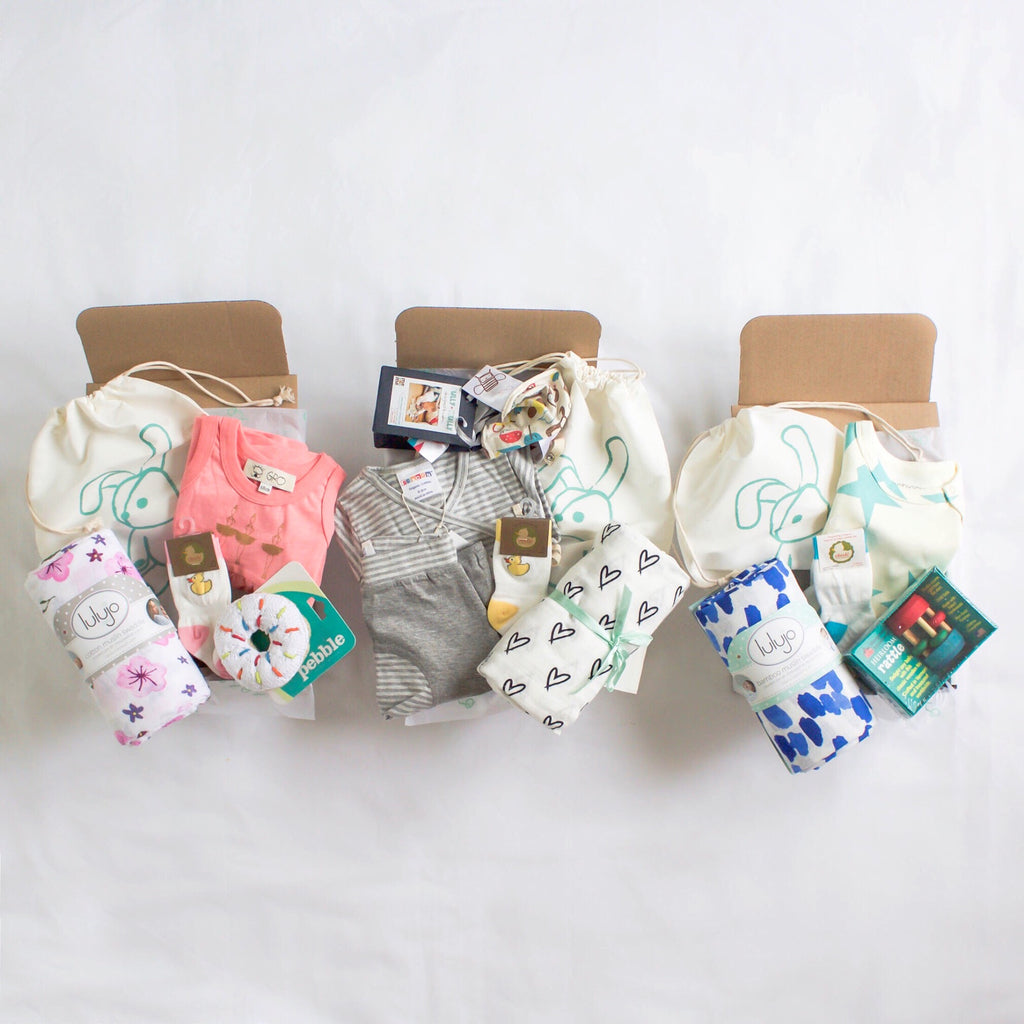 Welcome Baby Newborn Gift Box by Smockbox,Smockbox  - Wild Dill
