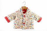 Mezoome Organic Cotton Fall Hooded Coat coral pink / 6-12m, Toddler Wear - Mezoome Designs, Wild Dill  - 4