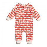 Red Traffic Jam Organic Terry Jumpsuit , Baby Wear - Winter Water Factory, Wild Dill