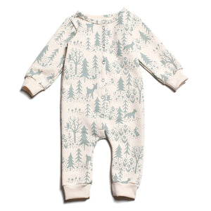 Winter Forest Jumpsuit - Organic French Terry,Winter Water Factory  - Wild Dill