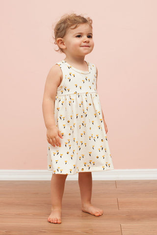 Yellow Tulips Organic Romper by Winter Water Factory