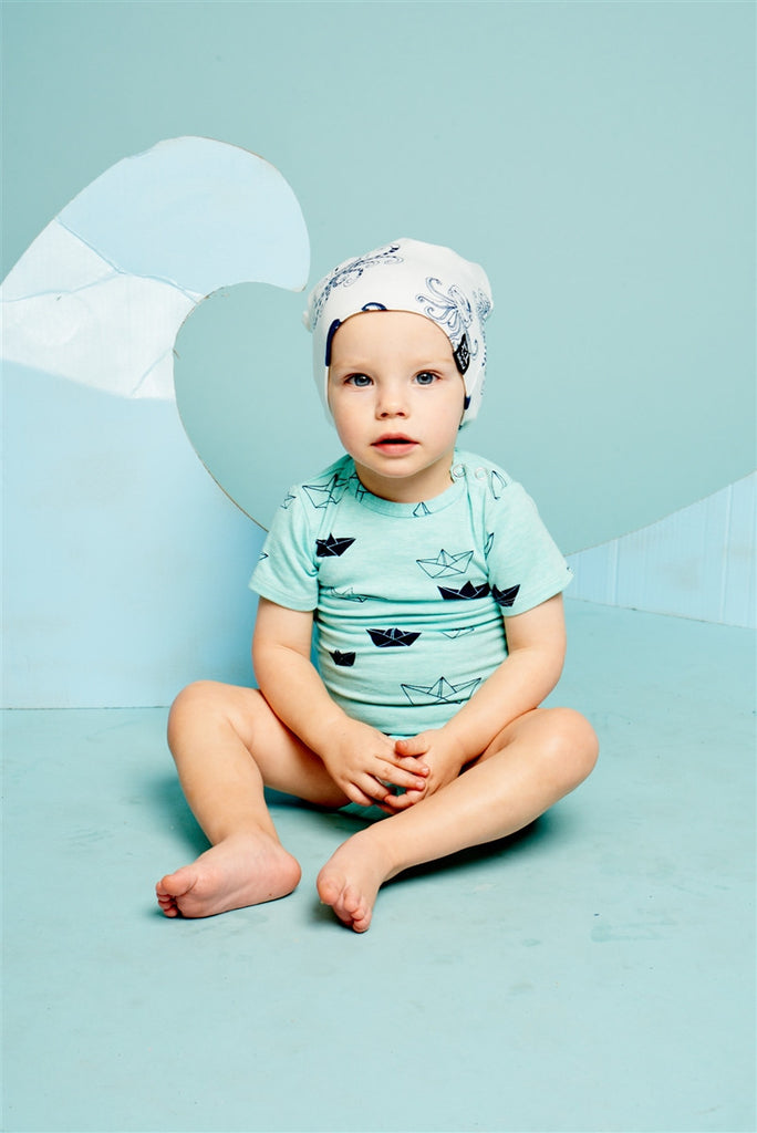 Origami Boat Onepiece , Baby Wear - KuKuKid, Wild Dill  - 2
