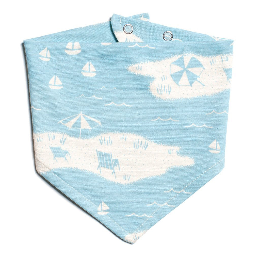 Turquoise Beach Day Kerchief Bib by Winter Water Factory,Winter Water Factory  - Wild Dill