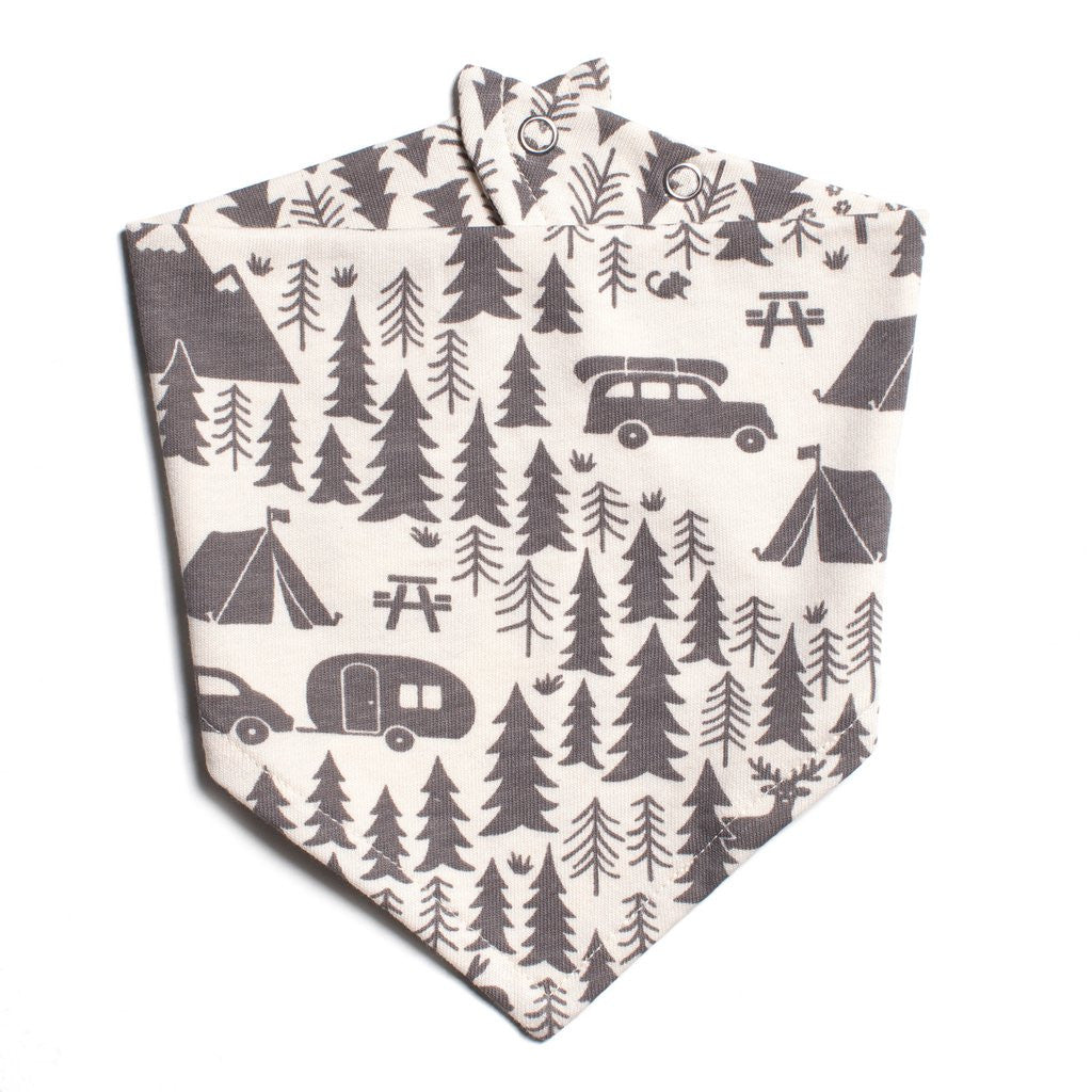Grey Camping Kerchief Bib by Winter Water Factory,Winter Water Factory  - Wild Dill