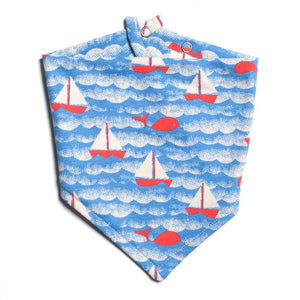 Sailboats Kerchief Bib by Winter Water Factory,Winter Water Factory  - Wild Dill