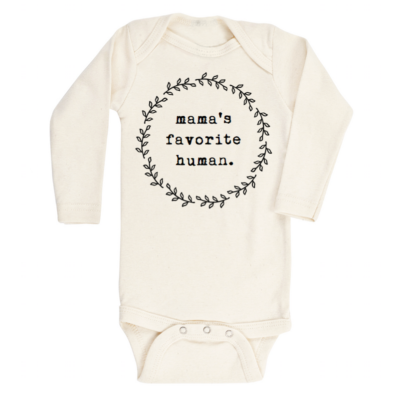 Mamas Favorite Human - Organic Long sleeve Onepiece,Tenth and Pine  - Wild Dill