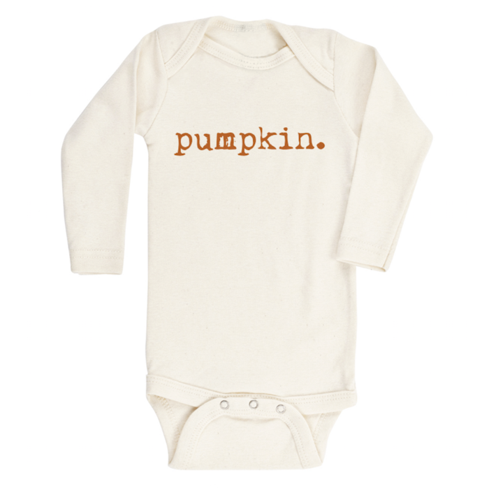 Pumpkin - Organic Long sleeve Onepiece,Tenth and Pine  - Wild Dill