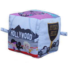 Los Angeles - Organic Cotton Play Block , Play - Globe Totters, Wild Dill  - 2