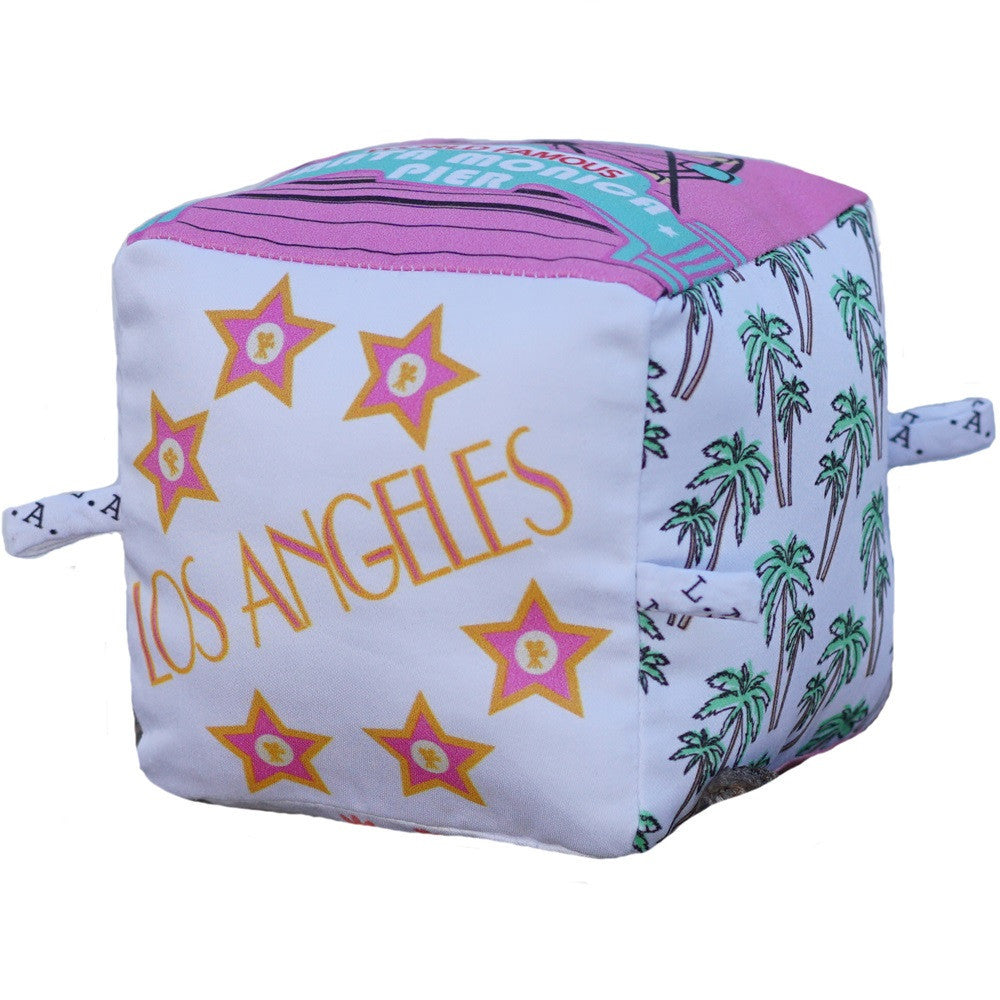 Los Angeles - Organic Cotton Play Block,Globe Totters  - Wild Dill