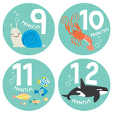 Under the Sea Monthly Milestone Stickers , milestone stickers - Lucy Darling, Wild Dill  - 3