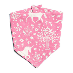 Pink Unicorn Kerchief Bib by Winter Water Factory,Winter Water Factory  - Wild Dill