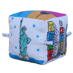 New York City - Organic Cotton Play Block , Play - Globe Totters, Wild Dill  - 2