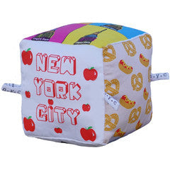 New York City - Organic Cotton Play Block,Globe Totters  - Wild Dill