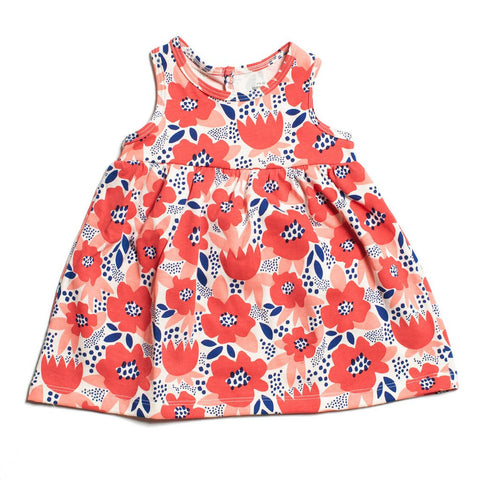 Blue Wildflowers Organic Romper by Winter Water Factory
