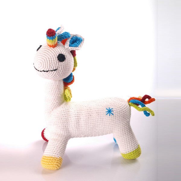 Fantasy White Unicorn Fair Trade Toy , Play - Pebble, Wild Dill
