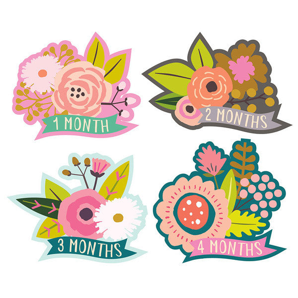 Little Flowers Monthly Milestone Stickers , milestone stickers - Lucy Darling, Wild Dill  - 3