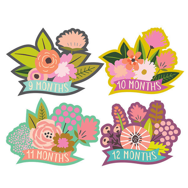 Little Flowers Monthly Milestone Stickers , milestone stickers - Lucy Darling, Wild Dill  - 2