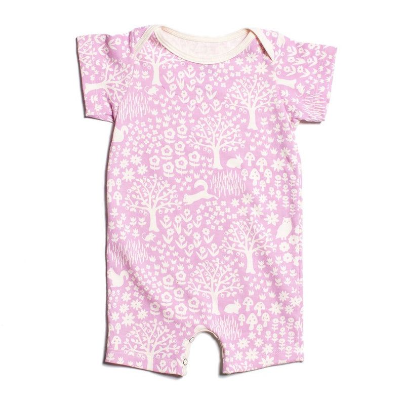 Lavender Woodland Organic Romper by Winter Water Factory,Winter Water Factory  - Wild Dill