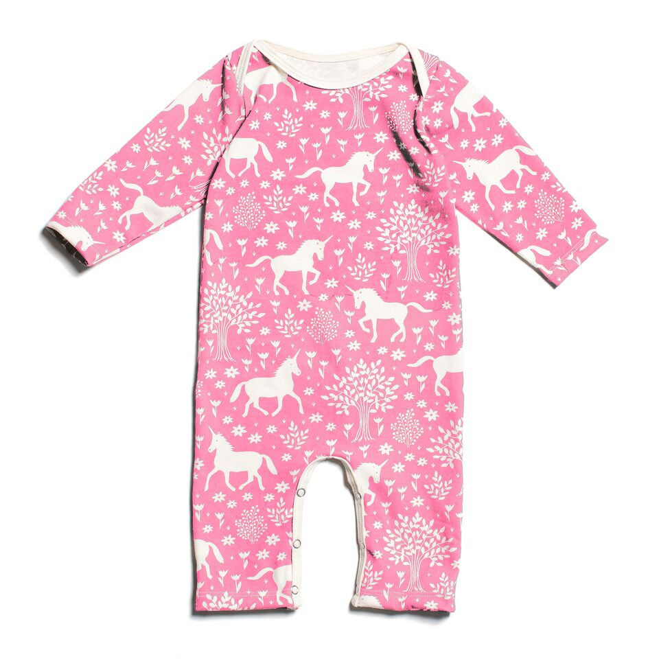 Pink Unicorn - Organic Jumpsuit by Winter Water Factory,Winter Water Factory  - Wild Dill