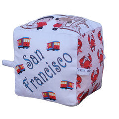San Francisco - Organic Cotton Play Block , Play - Globe Totters, Wild Dill  - 1