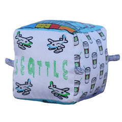 Seattle - Organic Cotton Play Block , Play - Globe Totters, Wild Dill  - 1