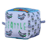 Seattle - Organic Cotton Play Block,Globe Totters  - Wild Dill