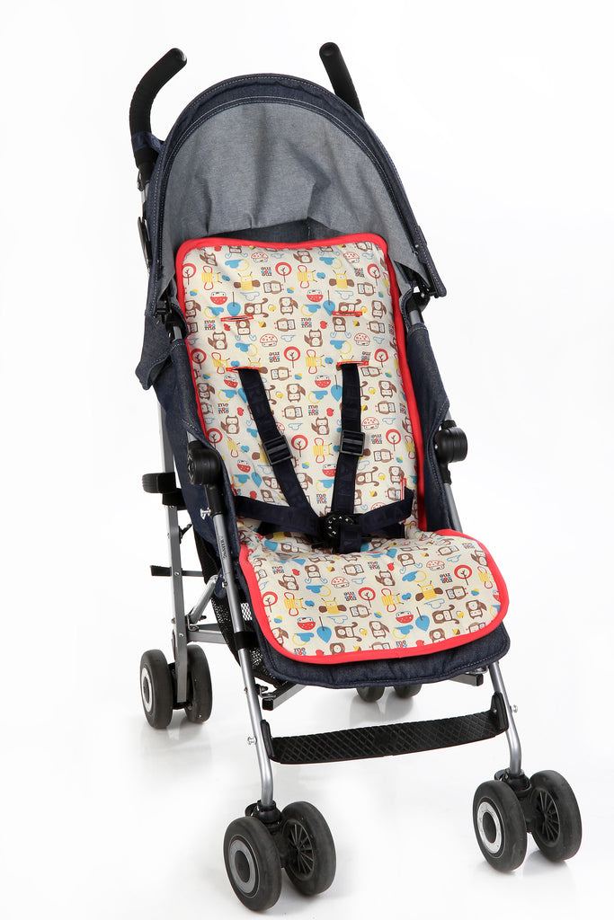 Mezoome Organic Stroller Liner turquoise blue, Accessories - Mezoome Designs, Wild Dill  - 1