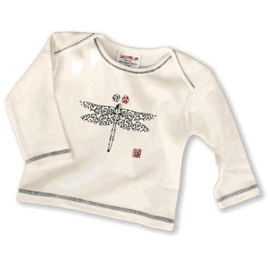 Dragonfly Organic Baby Tee,Sckoon  - Wild Dill