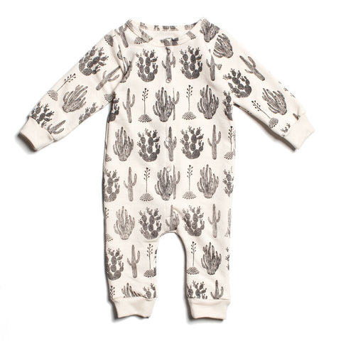 Organic Striped Colbat Footed Romper