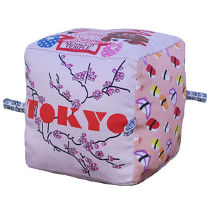 Tokyo - Organic Cotton Play Block , Play - Globe Totters, Wild Dill  - 1