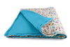 Turquoise Blue- Organic Padded Blanket w/ storage bag , Crib Bedding - Mezoome Designs, Wild Dill  - 1