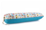 Turquoise Blue- Organic Padded Blanket w/ storage bag , Crib Bedding - Mezoome Designs, Wild Dill  - 2