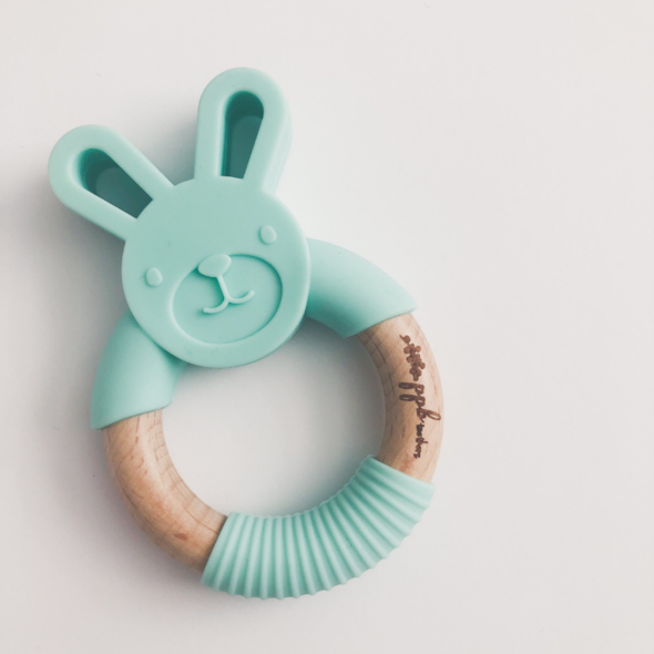 Bunny Ring Teether - Mint Green,Pretty Please Boutique  - Wild Dill