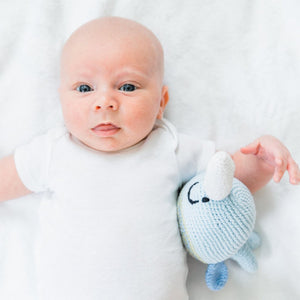 Narwhal Fair Trade Knitted Baby Rattle