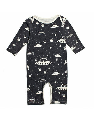 Black Outerspace- Organic Jumpsuit by Winter Water Factory,Winter Water Factory  - Wild Dill