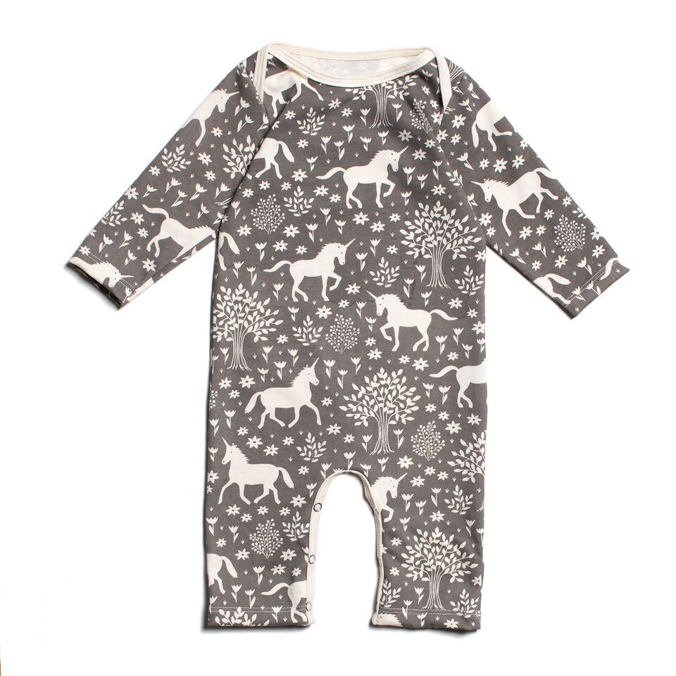 Grey Unicorn - Organic Jumpsuit by Winter Water Factory,Winter Water Factory  - Wild Dill