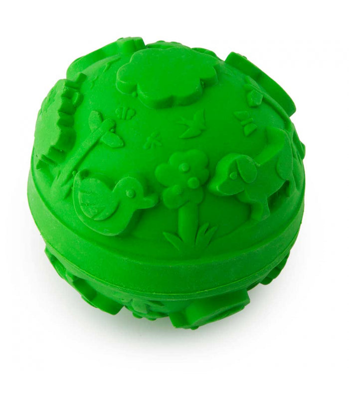 Natural Rubber Green Ball Toy , Bath - Oli & Carol, Wild Dill  - 2