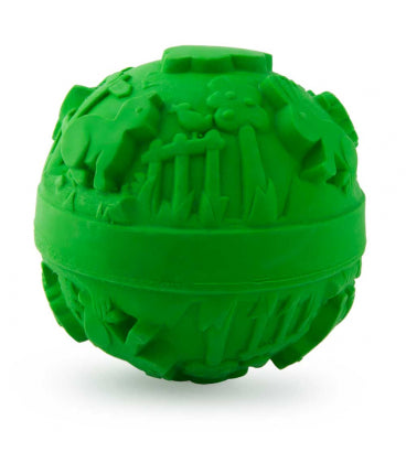 Natural Rubber Green Ball Toy , Bath - Oli & Carol, Wild Dill  - 1
