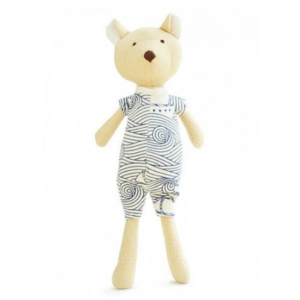 Nicolas Bear Organic Doll -  Winter Water Factory Limited Edition Outfit , Play - Hazel Village, Wild Dill  - 3