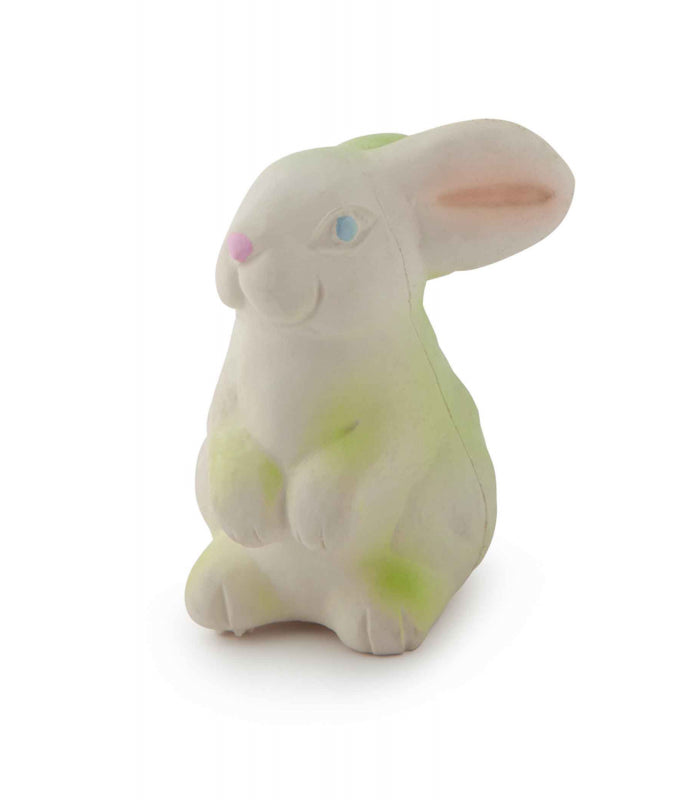Natural Rubber Bunny Bath Toy or Teether , Bath - Oli & Carol, Wild Dill  - 1