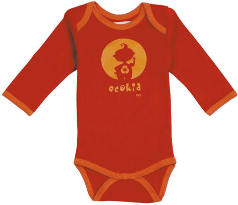 Ideo Eco-Kid organic onesie - Orange orange / 24m, Baby Wear - Ideo, Wild Dill