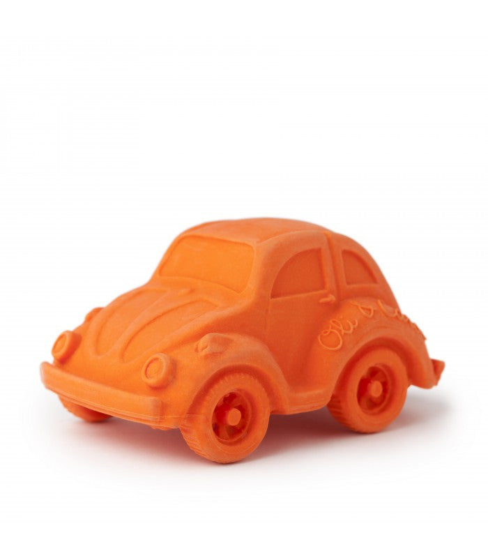 Orange Beetle Car - Natural Rubber Bath Toy,Oli & Carol  - Wild Dill