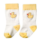 Stay Put Baby Socks - Yellow Duckies , Footwear - Cheski Sock Co, Wild Dill  - 2