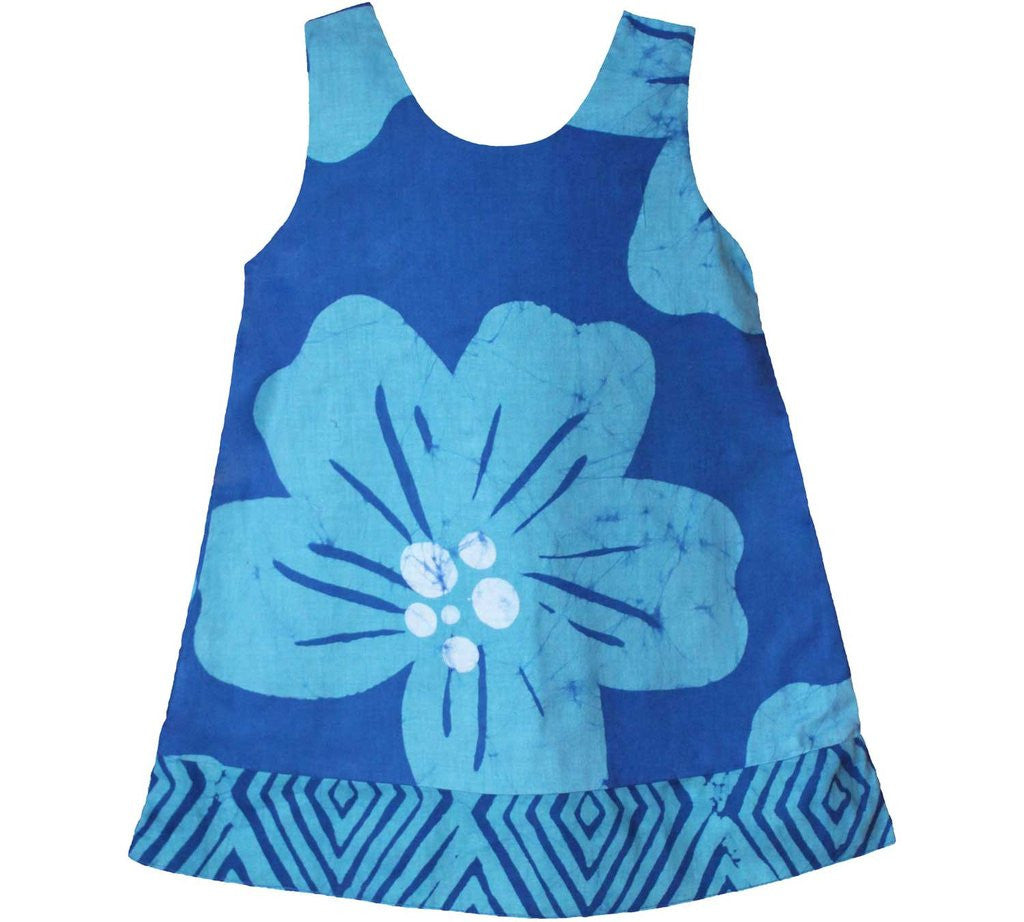 Fair Trade Batik Teal Flower Dress