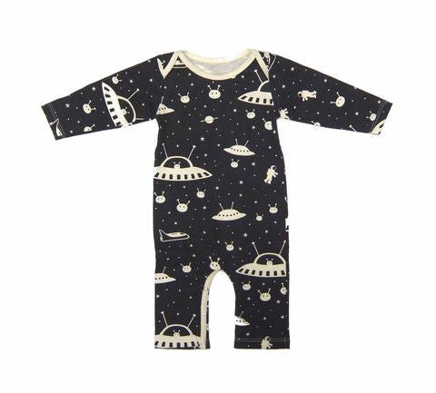 Winter Water Factory Outer Space Romper , Baby Wear - Winter Water Factory, Wild Dill