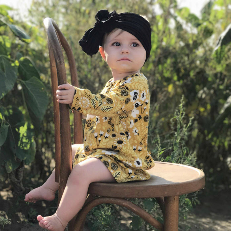 Mustard Wildflowers Dress by Winter Water Factory,Winter Water Factory  - Wild Dill