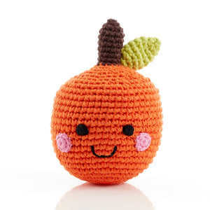 Smiling Orange - Fair Trade Knitted Baby Rattle,Pebble  - Wild Dill